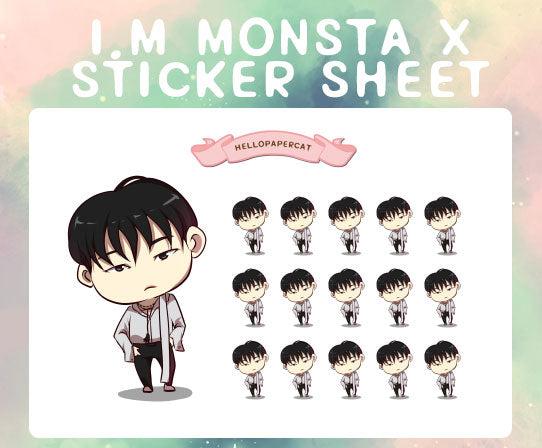 I.M Monsta X sticker sheet