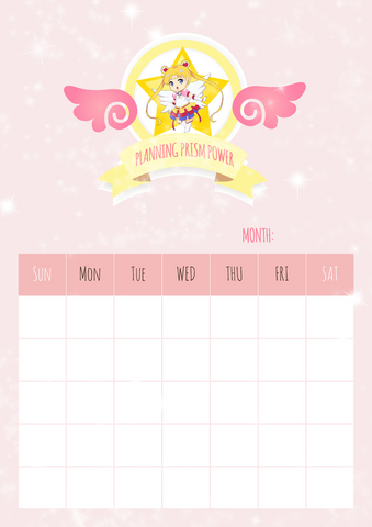 undated monthly calendar digital download