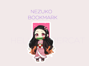 Nezuko magnetic bookmark