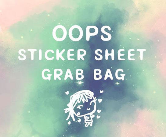 OOPS sticker sheet bundle