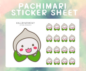 Pachimari sticker sheet