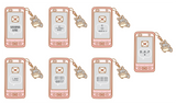 kawaii cell phone die cut digital download