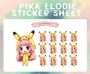 Pika Elodie sticker sheet