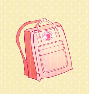 Pink Backpack digital diecut