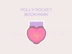 Polly Pocket magnetic bookmark