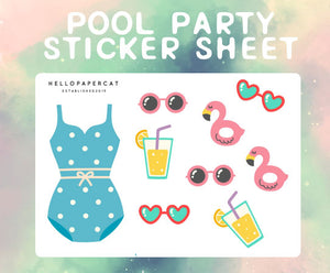 Pool Party sticker sheet