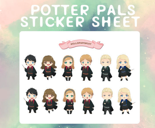 Potter Pals  sticker sheet