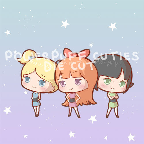Powerpuff cuties die cut