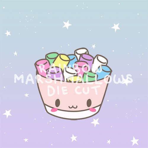 Rainbow Marshmallows die cut