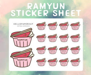 Ramyun sticker sheet