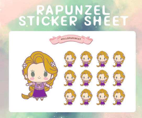 Rapunzel sticker sheet