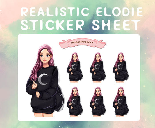 Realistic Elodie sticker sheet