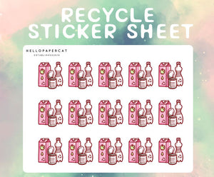 Recycle sticker sheet