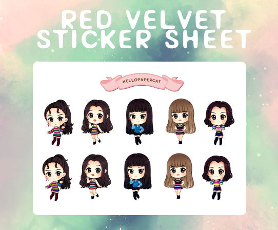 Red Velvet sticker sheet