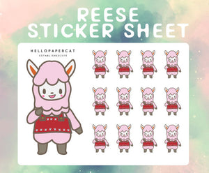 Reese sticker sheet