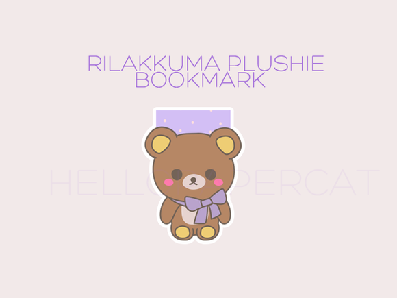 Rilakkuma Plushie magnetic bookmark