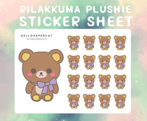 Rilakkuma Plushie sticker sheet