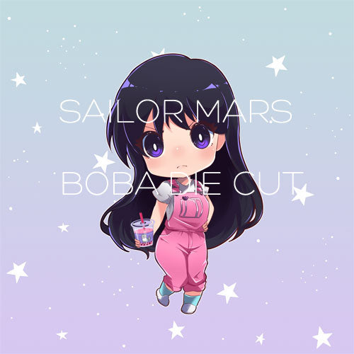 Sailor Mars Boba die cut