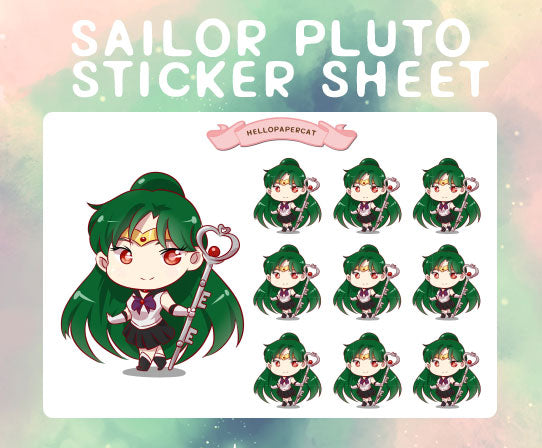 Sailor Pluto sticker sheet
