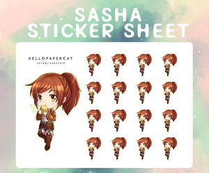 Sasha sticker sheet