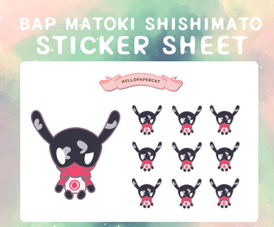 BAP Matoki Doll shishimato sticker sheet