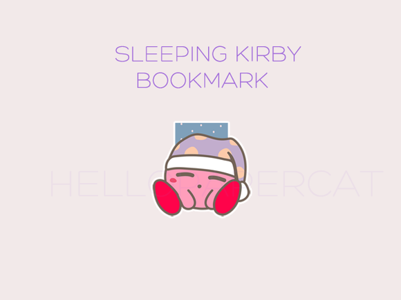 Sleeping Kirby magnetic bookmark