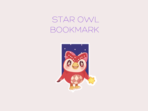Star Owl magnetic bookmark