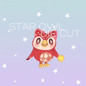 Star Owl die cut