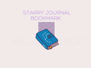 Starry Journal magnetic bookmark