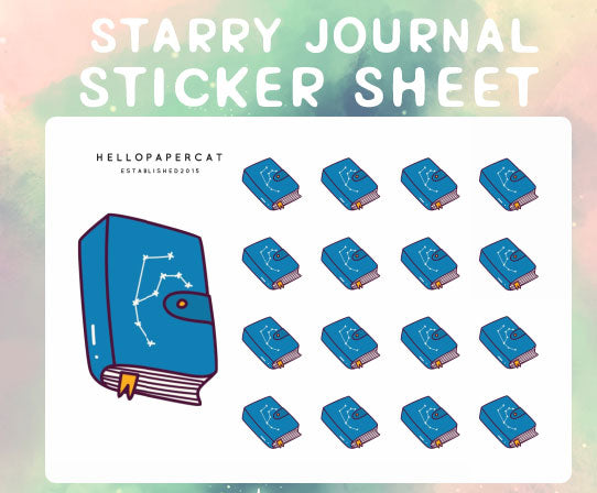 Starry Journal sticker sheet