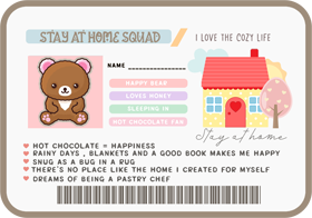 Stay at home squad ID version 2 digital download