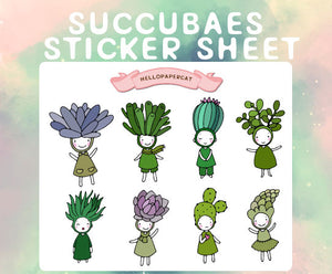 Succubaes sticker sheet