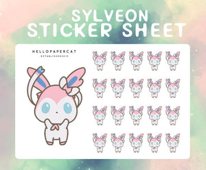 Sylveon sticker sheet
