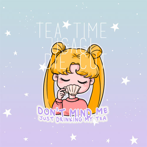 Tea Time Usagi die cut