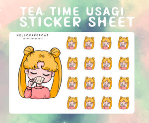 Tea Time Usagi sticker sheet