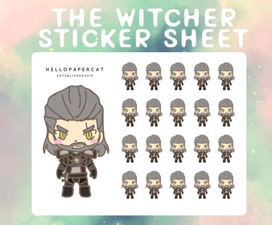 The Witcher sticker sheet