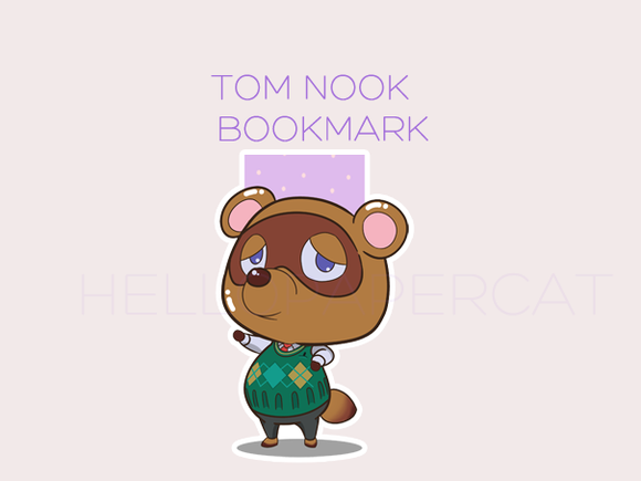 T Nook magnetic bookmark