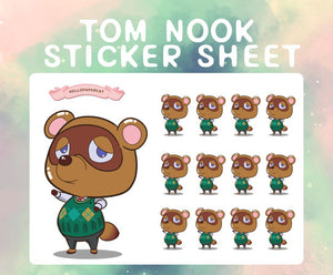 T Nook sticker sheet
