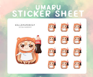 Umaru inspired sticker sheet