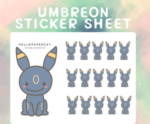 Umbreon sticker sheet