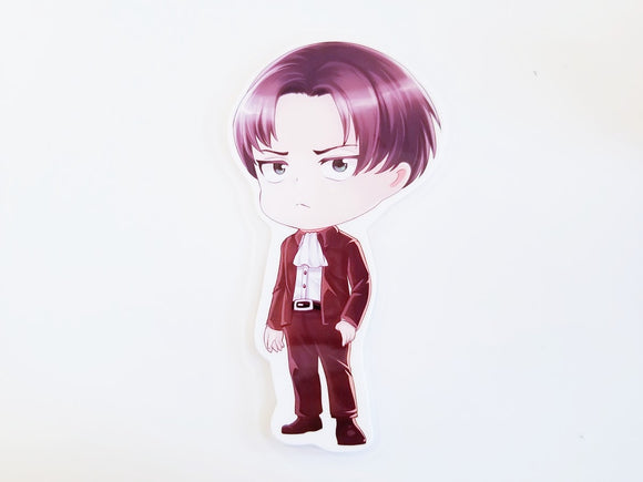Levi in a suit Page marker