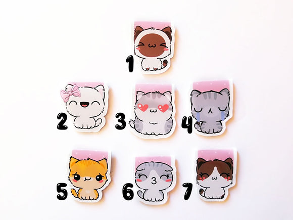Kitten magnetic bookmarks