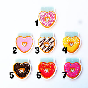 heart donuts magnetic bookmarks