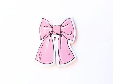 pink bow magnetic bookmark