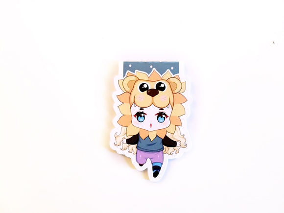 Lion head Luna magnetic bookmark
