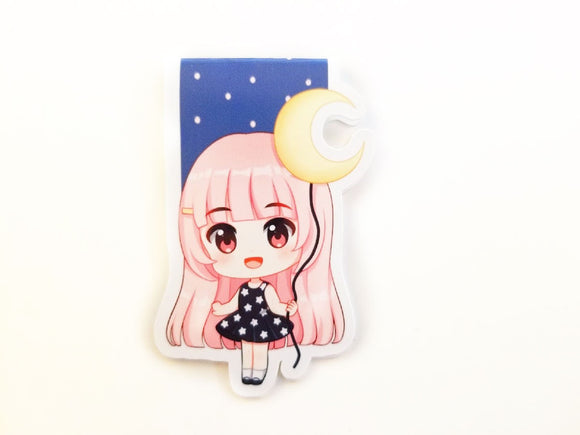 Moon and Stars Elodie magnetic bookmark