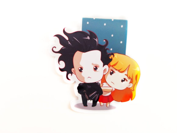 Edward Scissorhands inspired magnetic bookmark