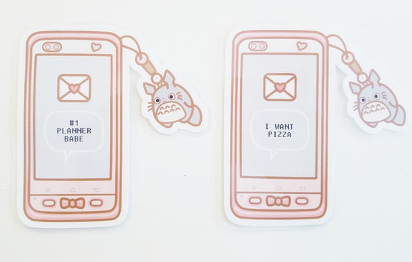 Kawaii cell phone page marker