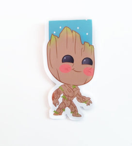 baby groot magnetic bookmark