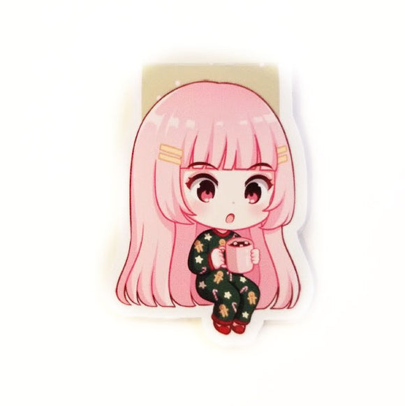 Elodie Hot Chocolate magnetic bookmark